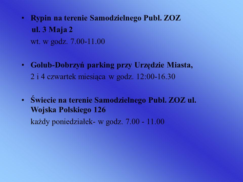 Rypin na terenie Samodzielnego Publ. ZOZ