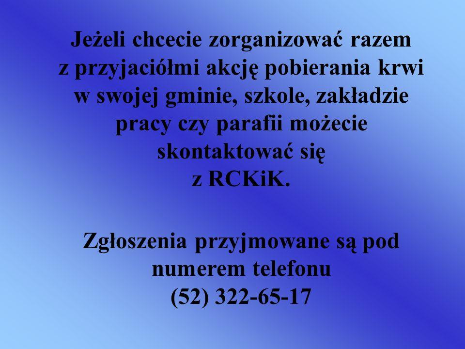 Zgłoszenia przyjmowane są pod numerem telefonu