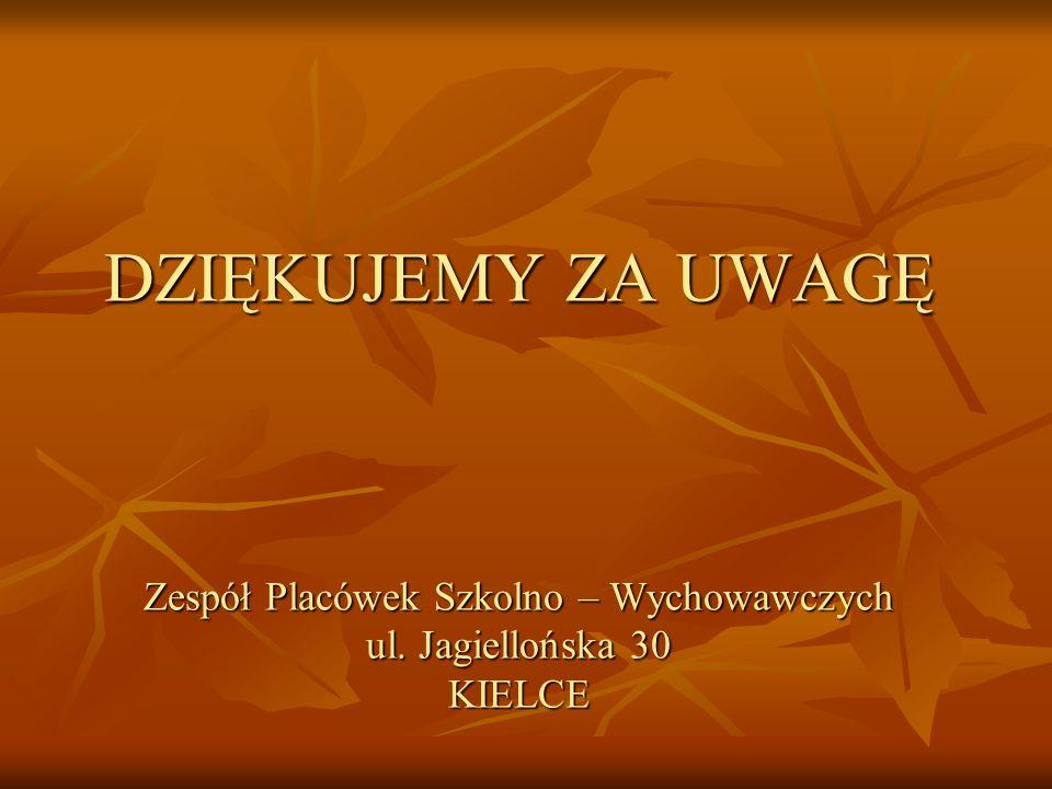 DZIĘKUJEMY ZA UWAGĘ Zespół Placówek Szkolno – Wychowawczych ul