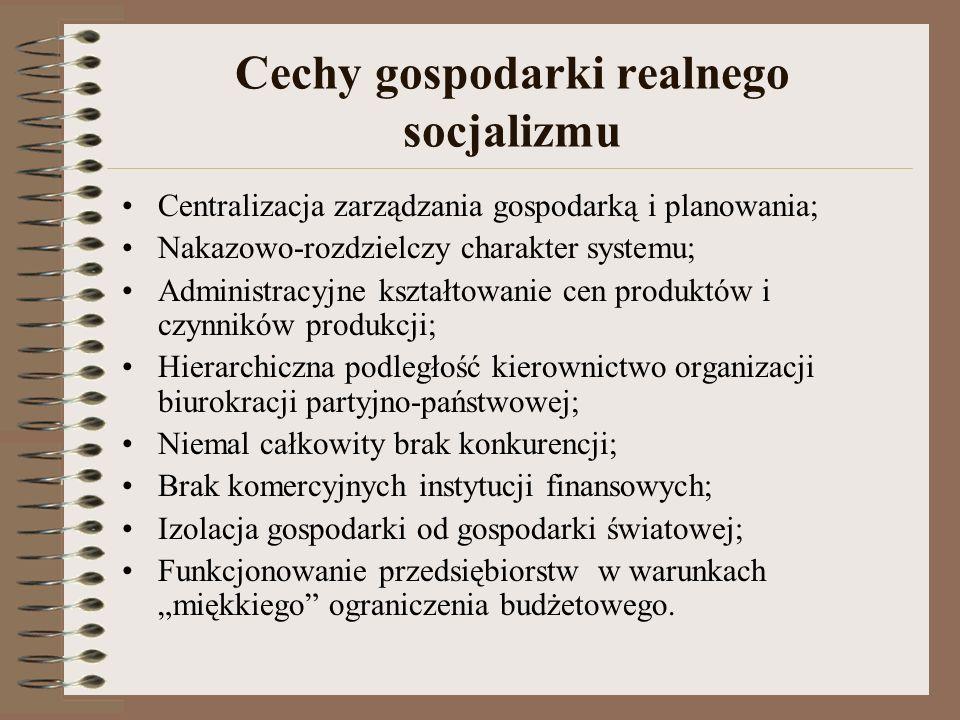 Cechy gospodarki realnego socjalizmu