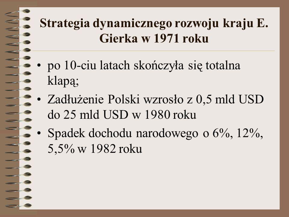 Strategia dynamicznego rozwoju kraju E. Gierka w 1971 roku