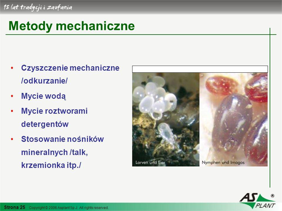 Metody mechaniczne Czyszczenie mechaniczne /odkurzanie/ Mycie wodą