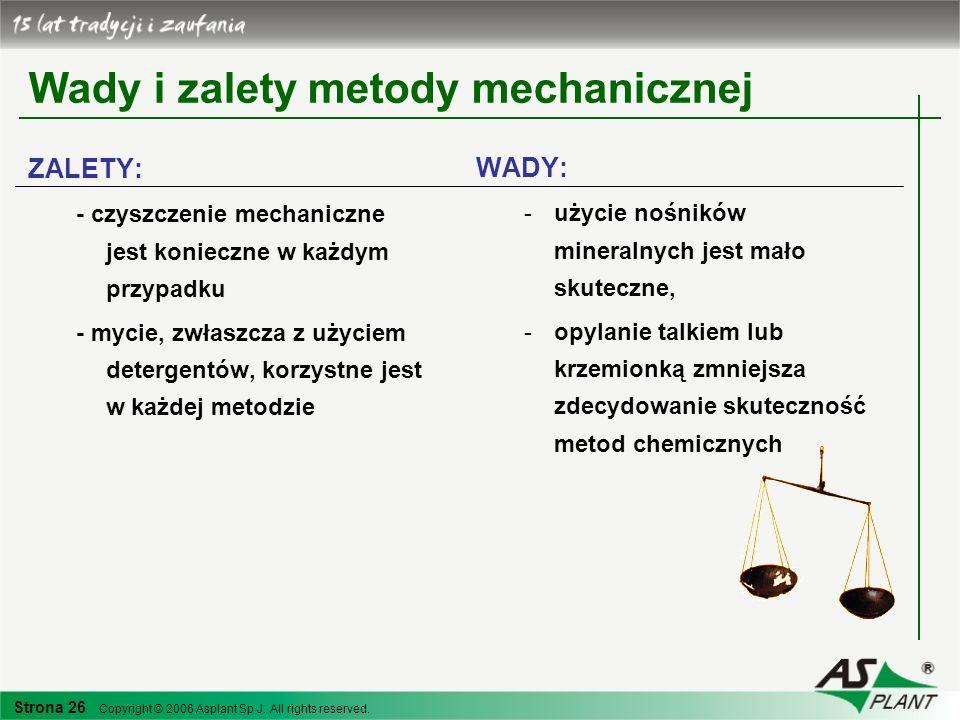 Wady i zalety metody mechanicznej