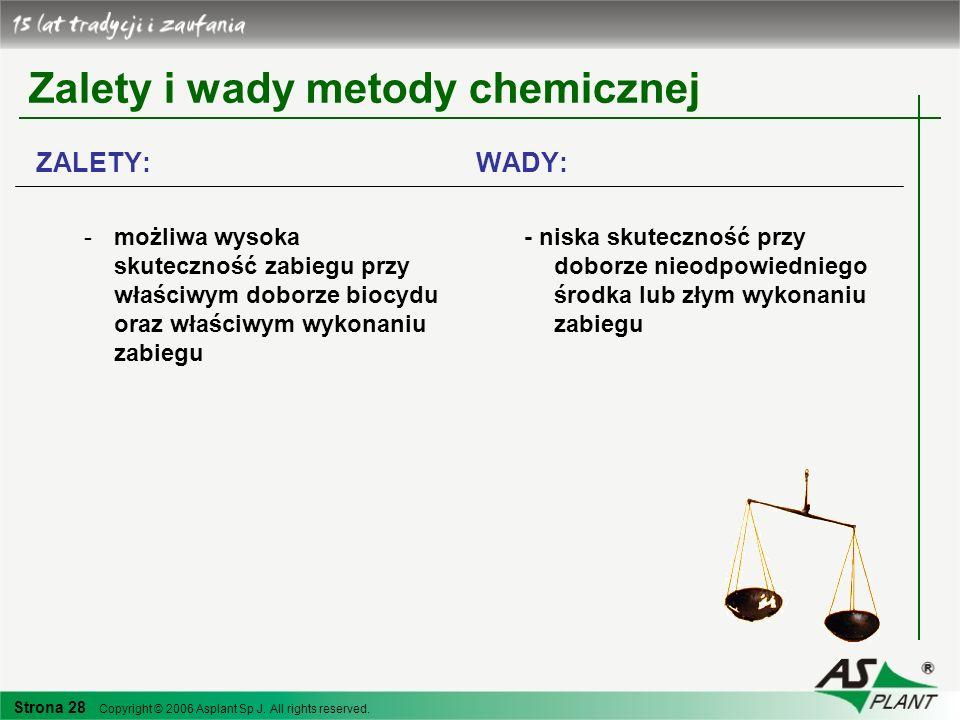 Zalety i wady metody chemicznej