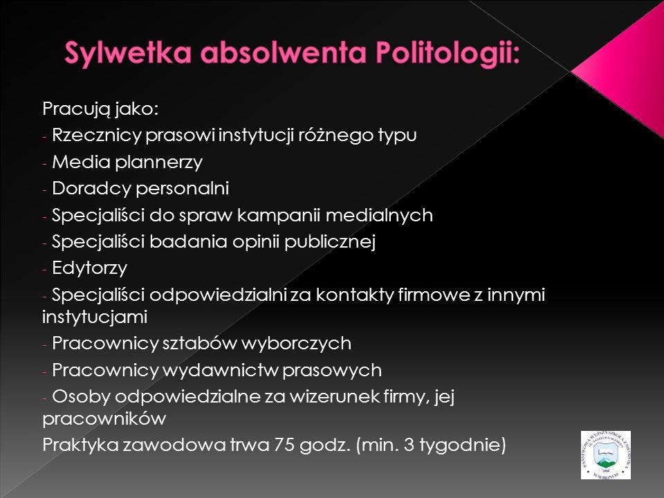 Sylwetka absolwenta Politologii: