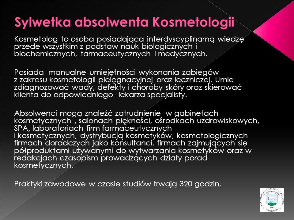 Sylwetka absolwenta Kosmetologii