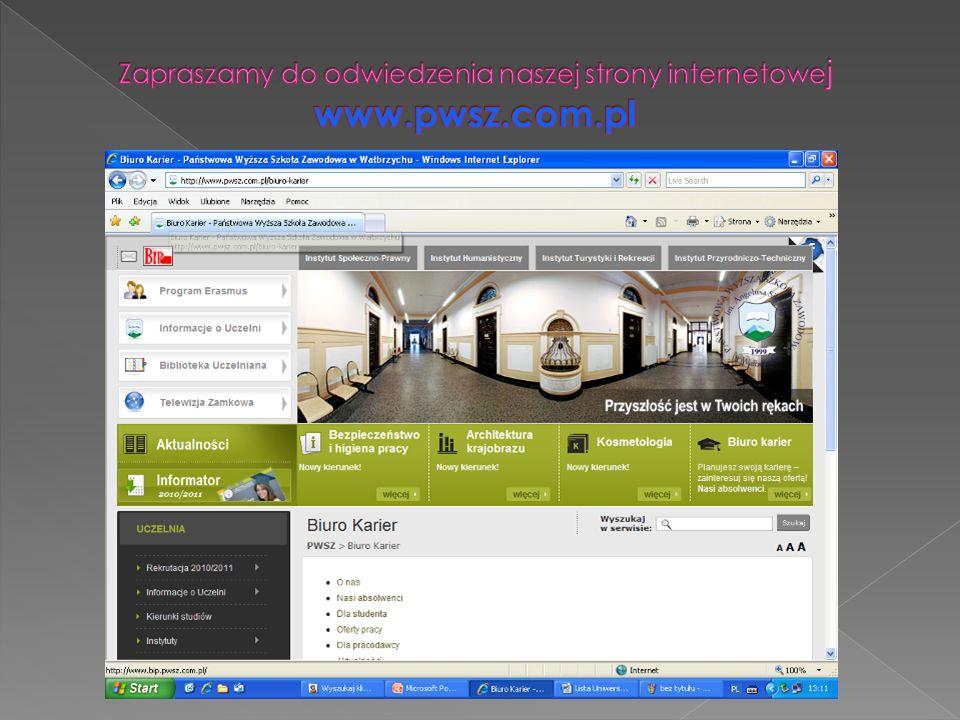 Zapraszamy do odwiedzenia naszej strony internetowej www.pwsz.com.pl