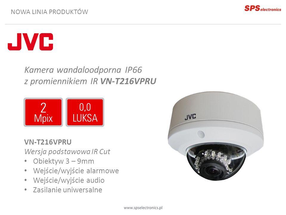Kamera wandaloodporna IP66 z promiennikiem IR VN-T216VPRU