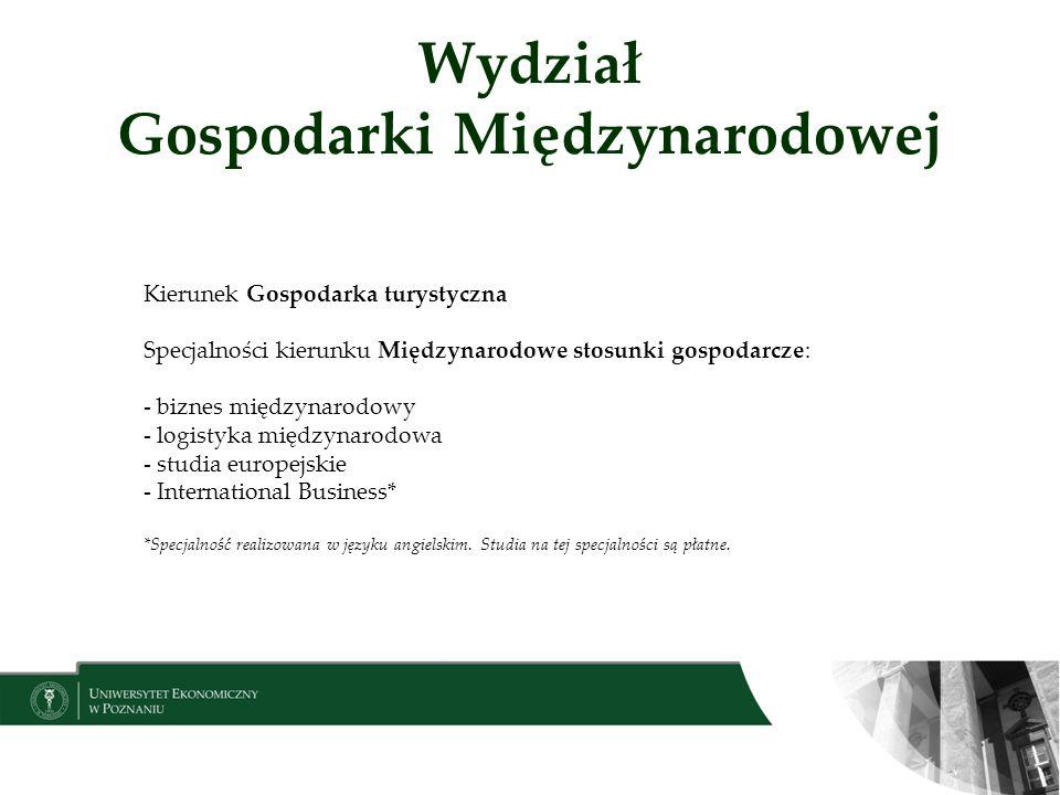 Wydział Gospodarki Międzynarodowej