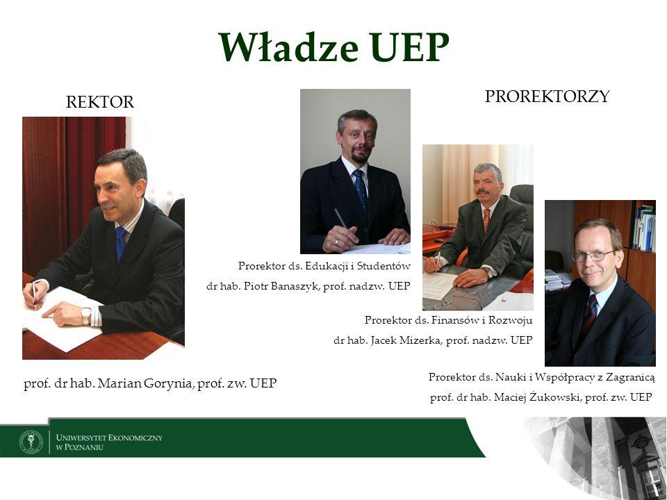 Władze UEP PROREKTORZY REKTOR