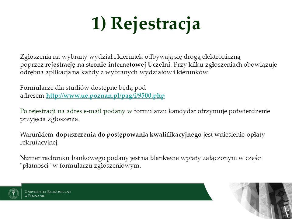 1) Rejestracja