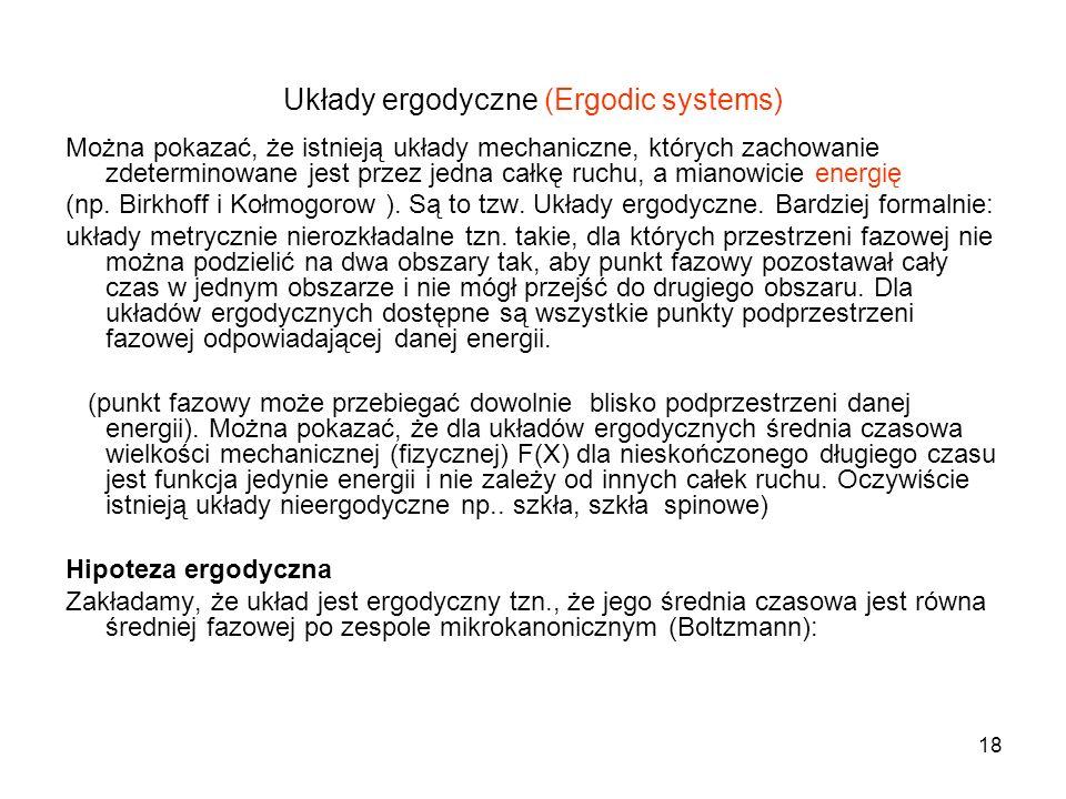 Układy ergodyczne (Ergodic systems)