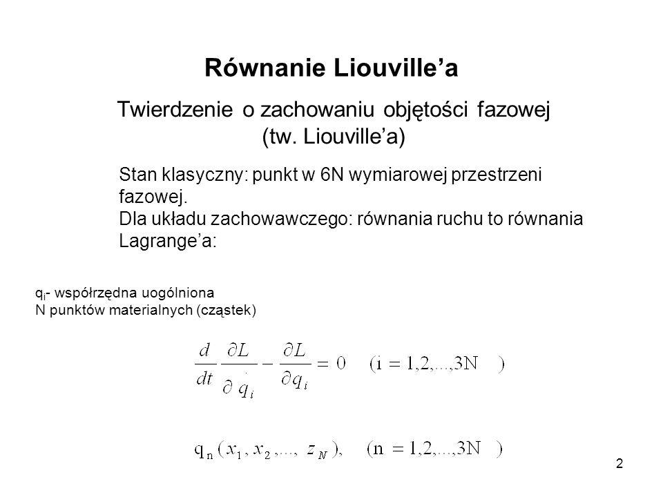 Twierdzenie o zachowaniu objętości fazowej (tw. Liouville'a)