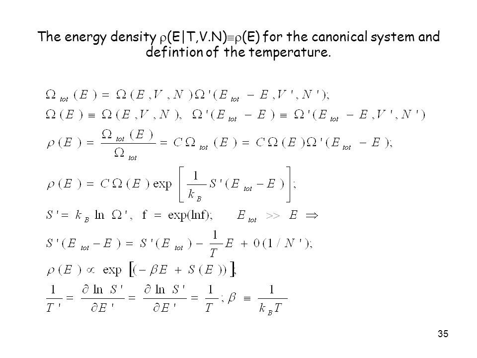 The energy density (E|T,V