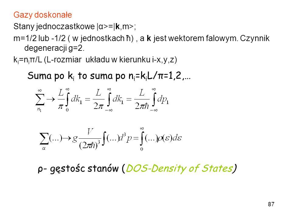 Suma po ki to suma po ni=kiL/π=1,2,…