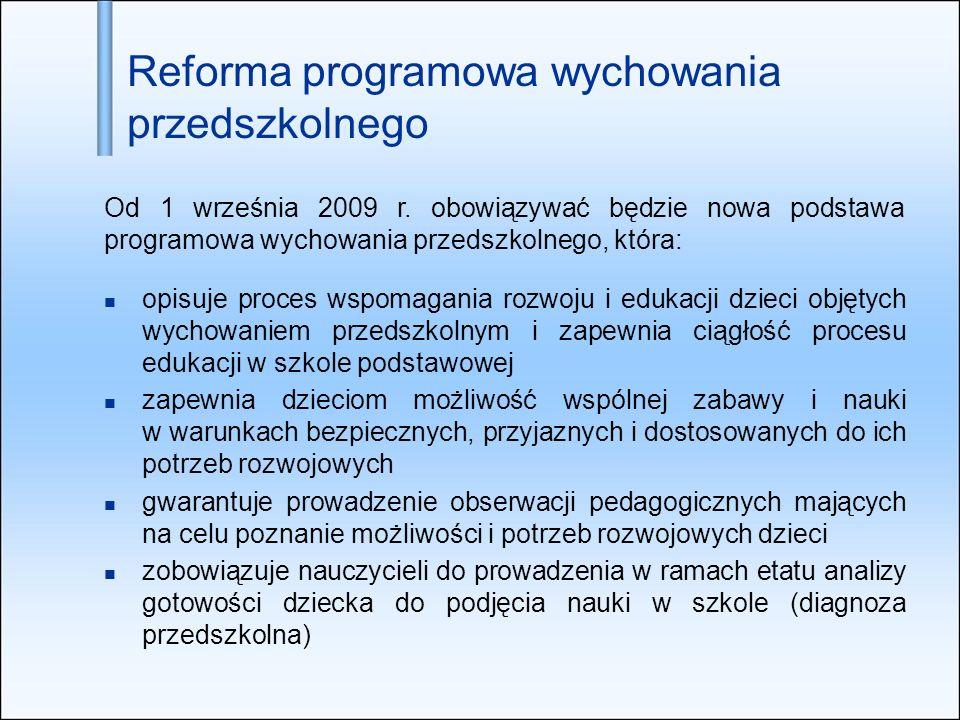 Reforma programowa wychowania przedszkolnego