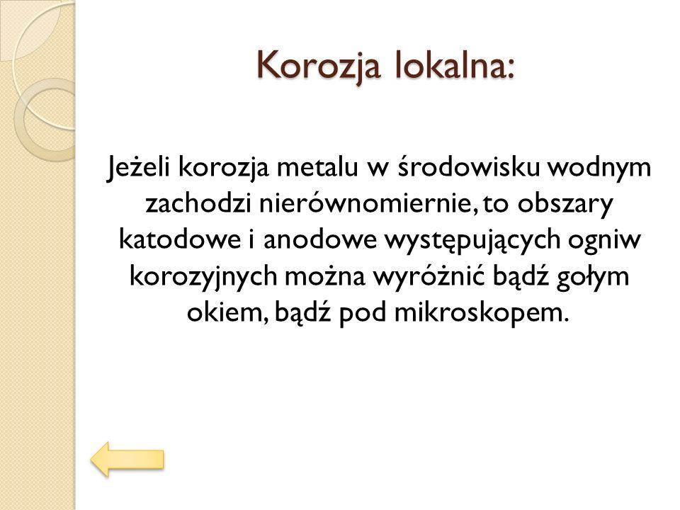 Korozja lokalna: