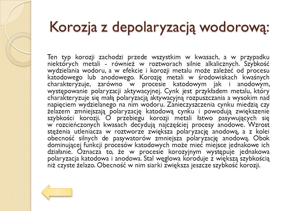 Korozja z depolaryzacją wodorową: