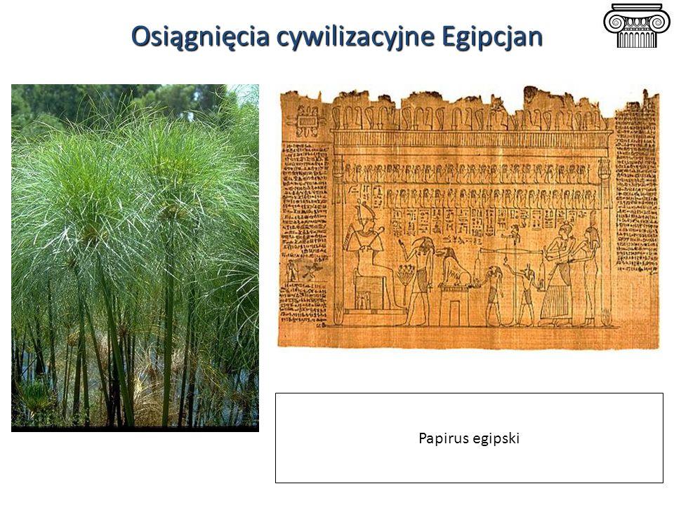 Osiągnięcia cywilizacyjne Egipcjan