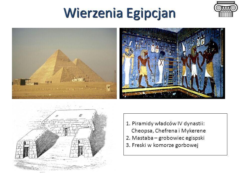 Wierzenia Egipcjan 1. Piramidy władców IV dynastii: