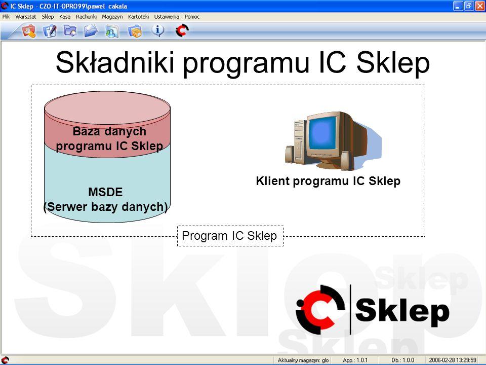 Składniki programu IC Sklep