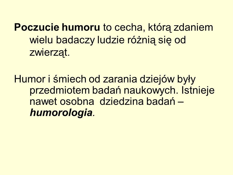 Poczucie humoru to cecha, którą zdaniem wielu badaczy ludzie różnią się od zwierząt.