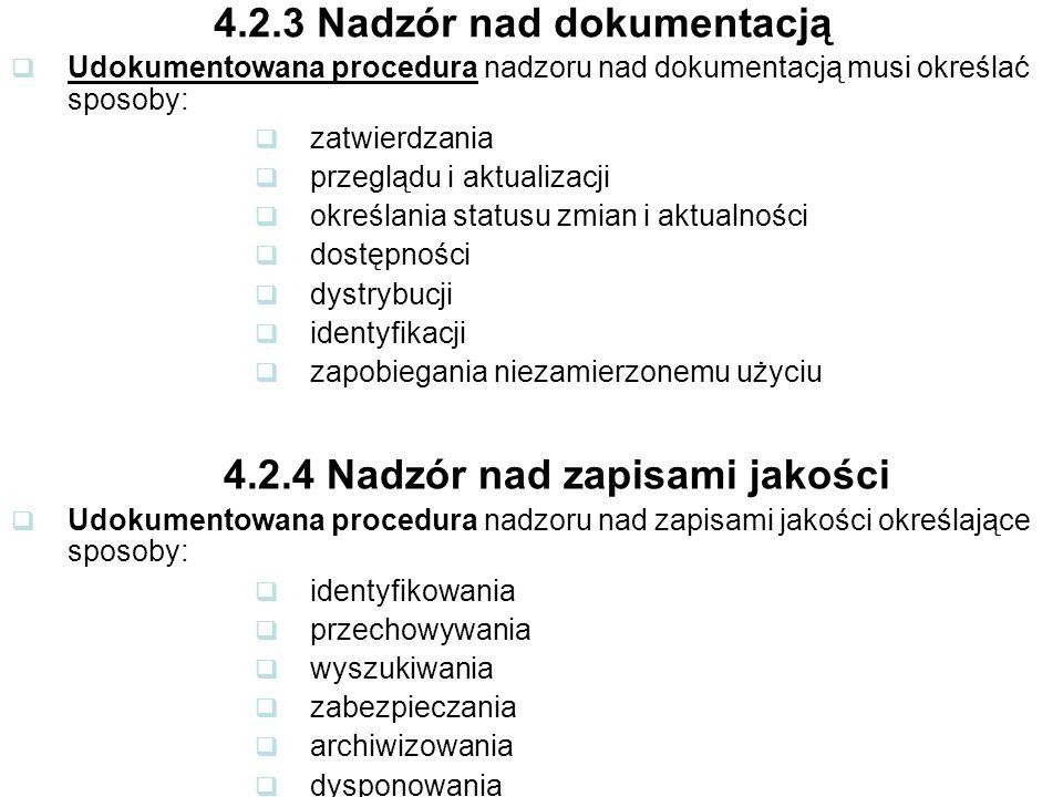 4.2.3 Nadzór nad dokumentacją