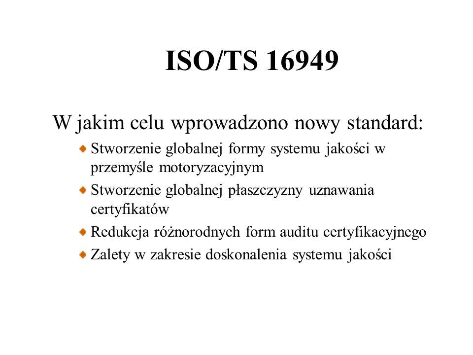 ISO/TS 16949 W jakim celu wprowadzono nowy standard: