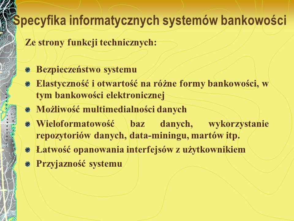Specyfika informatycznych systemów bankowości