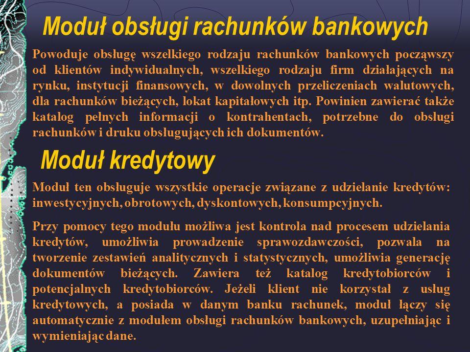 Moduł obsługi rachunków bankowych