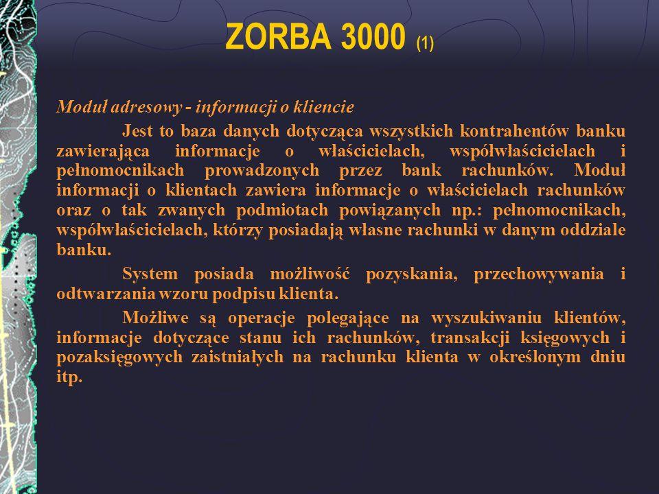 ZORBA 3000 (1) Moduł adresowy - informacji o kliencie