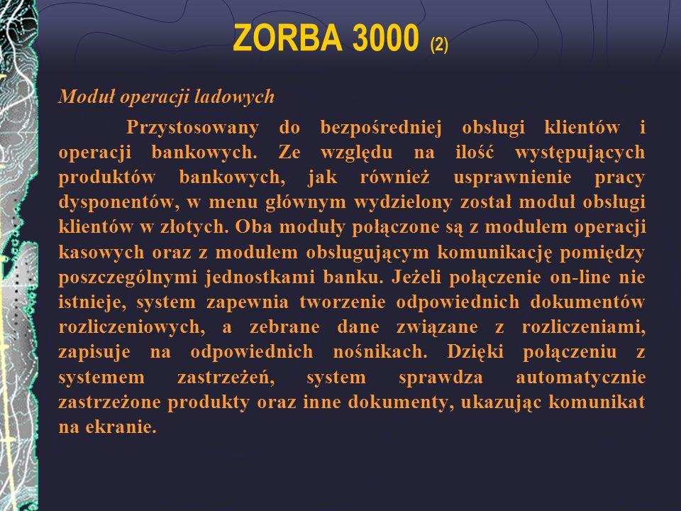ZORBA 3000 (2) Moduł operacji ladowych