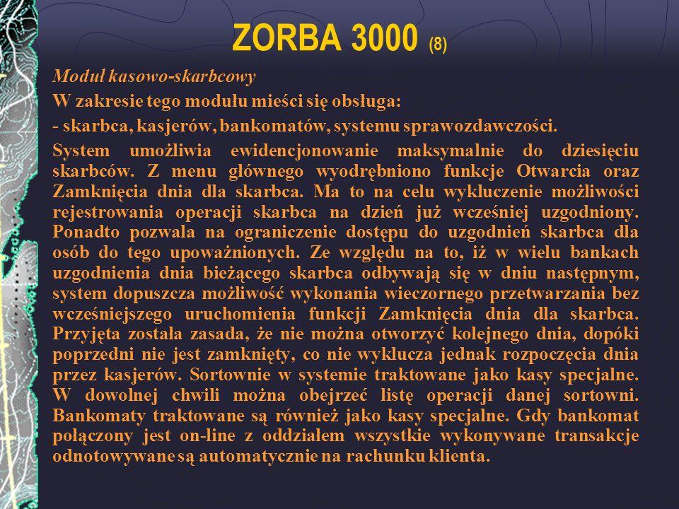 ZORBA 3000 (8) Moduł kasowo-skarbcowy
