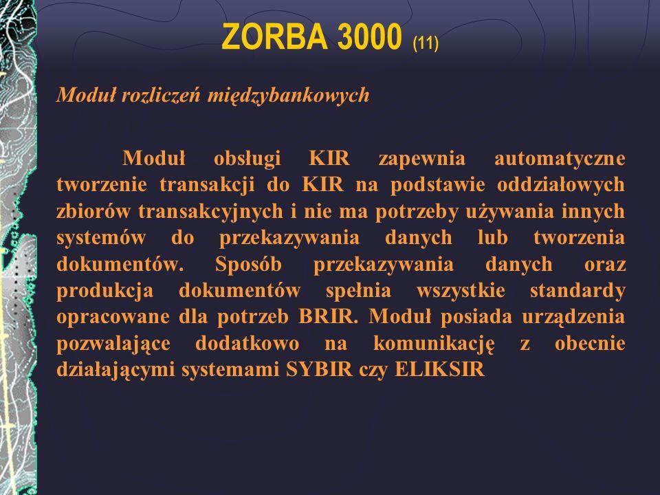 ZORBA 3000 (11) Moduł rozliczeń międzybankowych