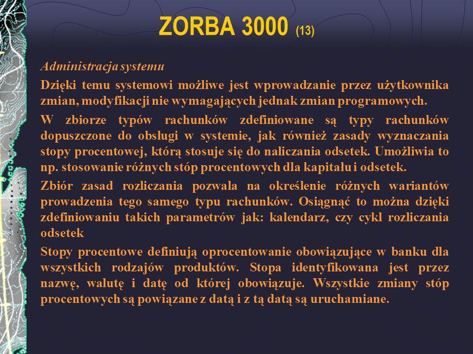 ZORBA 3000 (13) Administracja systemu