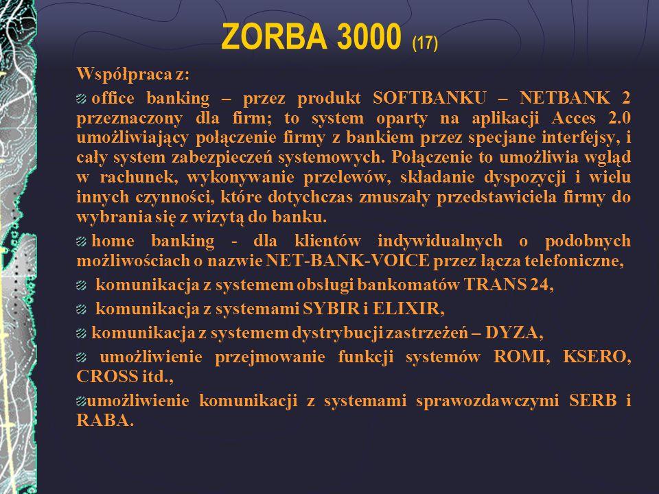 ZORBA 3000 (17) Współpraca z: