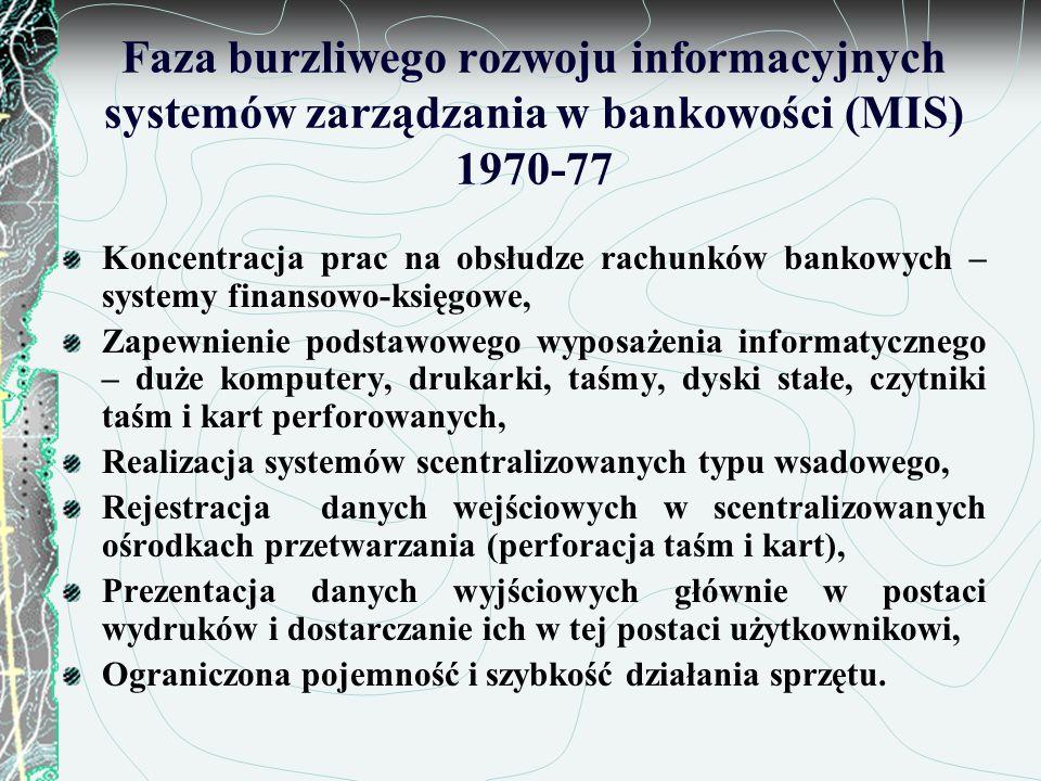 Faza burzliwego rozwoju informacyjnych systemów zarządzania w bankowości (MIS) 1970-77