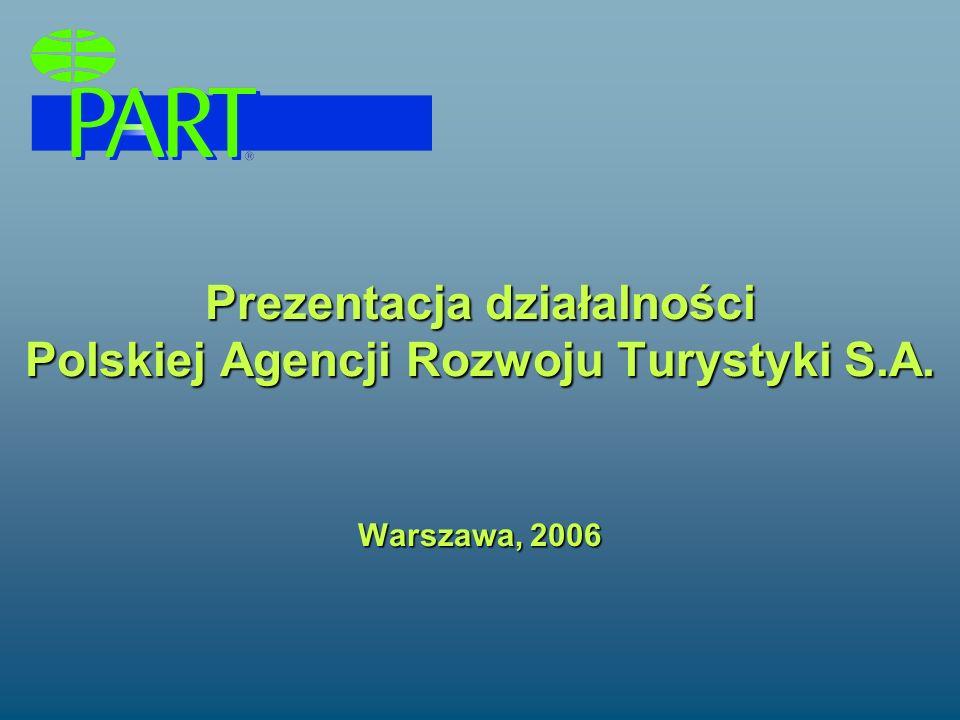 Prezentacja działalności Polskiej Agencji Rozwoju Turystyki S. A