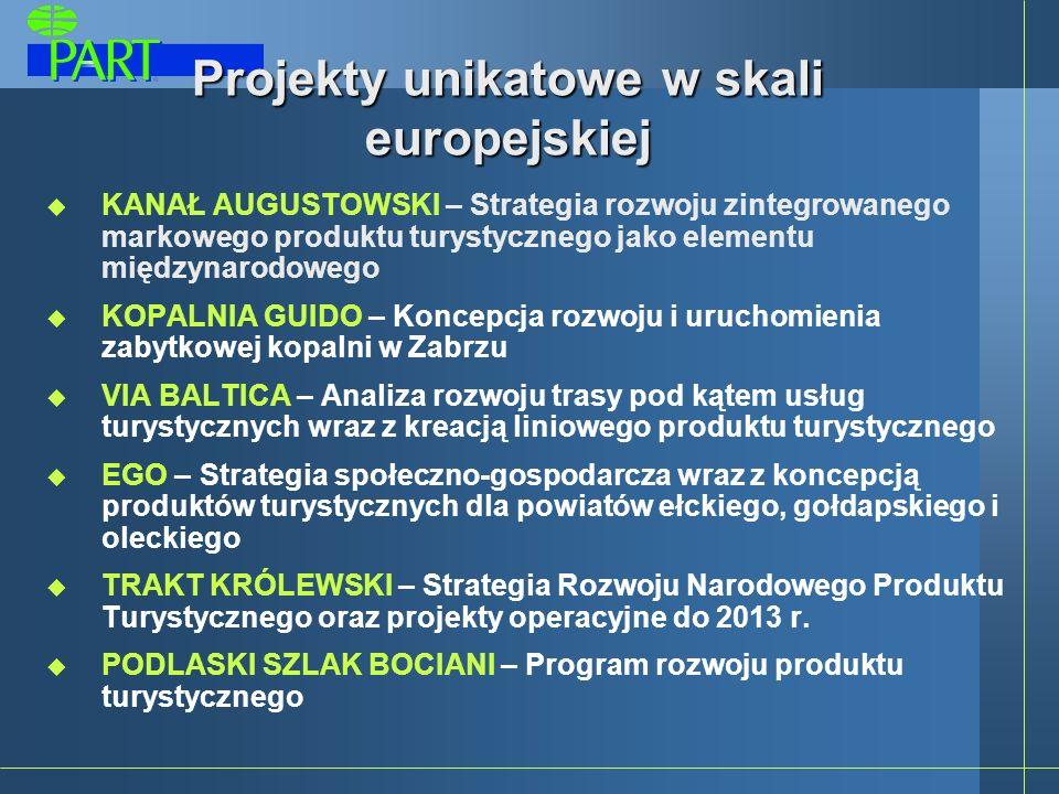 Projekty unikatowe w skali europejskiej