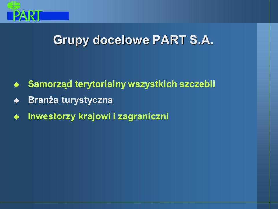 Grupy docelowe PART S.A. Samorząd terytorialny wszystkich szczebli