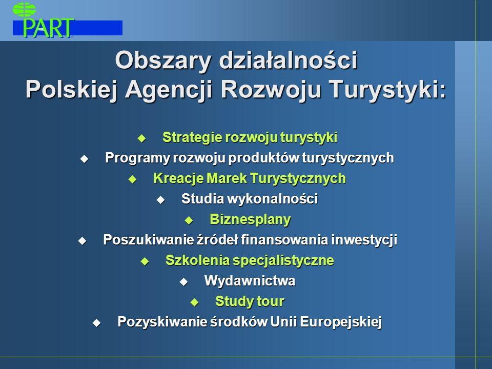 Obszary działalności Polskiej Agencji Rozwoju Turystyki: