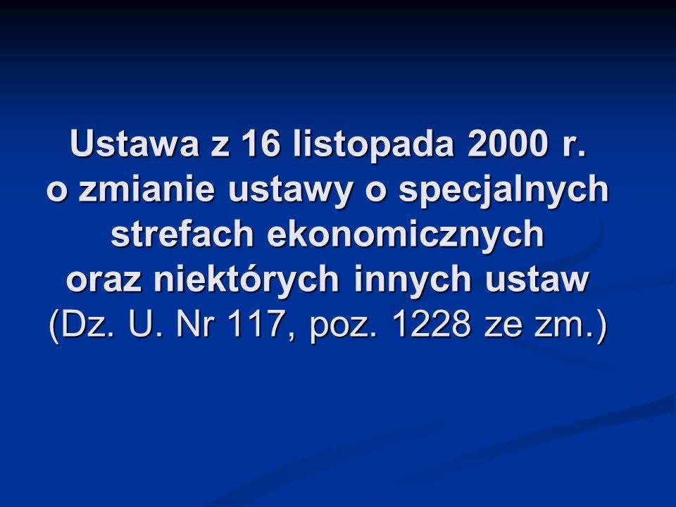 Ustawa z 16 listopada 2000 r.