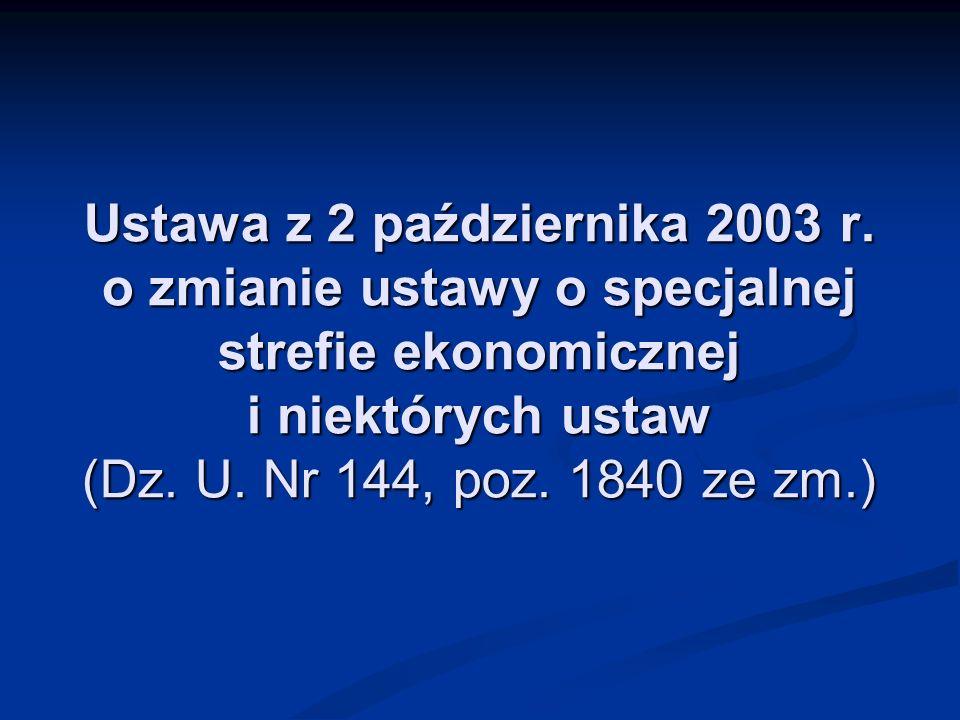 Ustawa z 2 października 2003 r