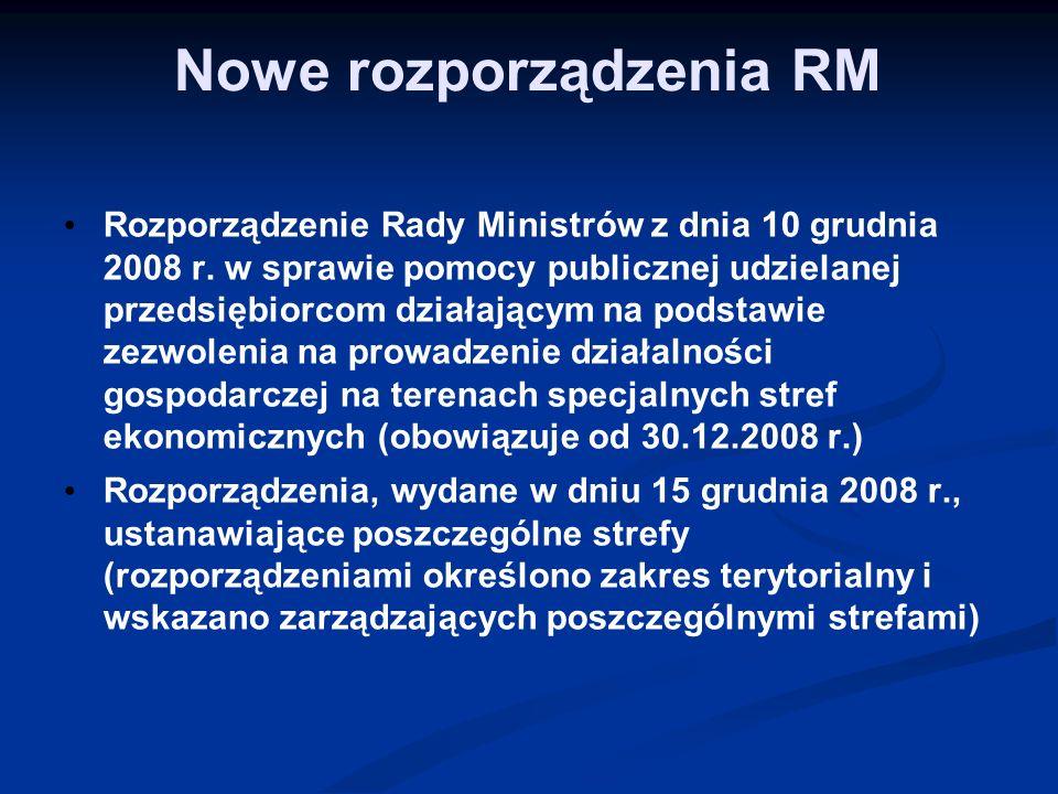 Nowe rozporządzenia RM