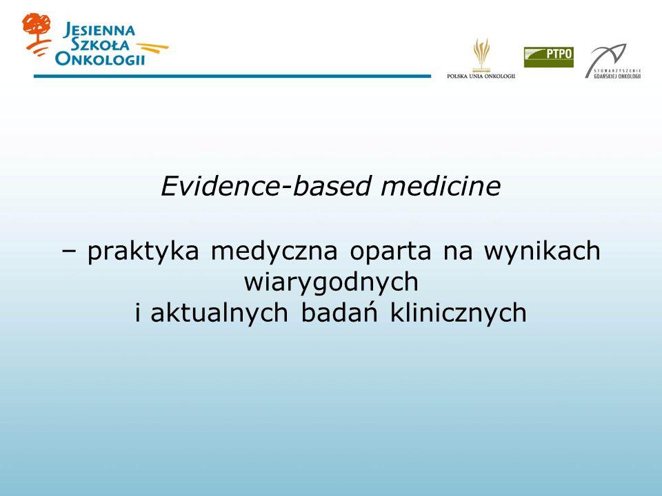 Evidence-based medicine – praktyka medyczna oparta na wynikach wiarygodnych i aktualnych badań klinicznych