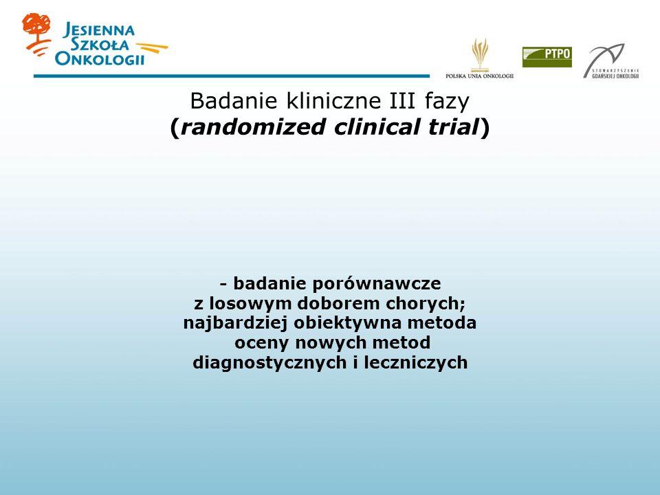 Badanie kliniczne III fazy (randomized clinical trial)