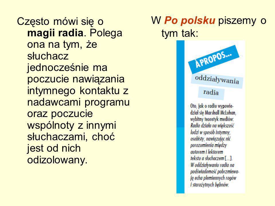 W Po polsku piszemy o tym tak: