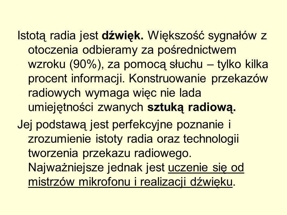 Istotą radia jest dźwięk