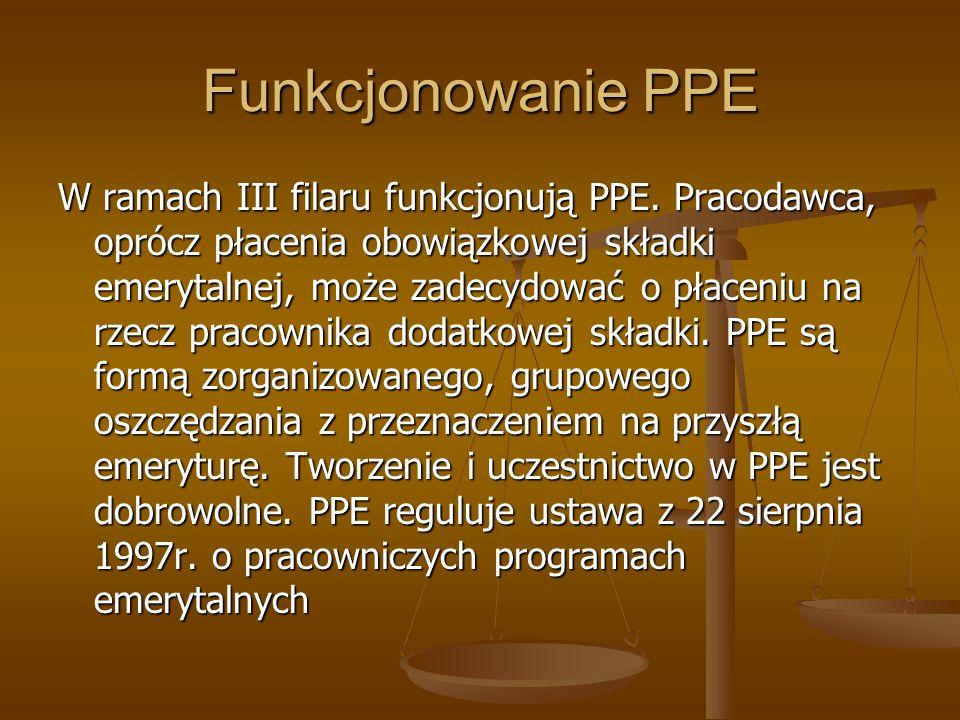 Funkcjonowanie PPE