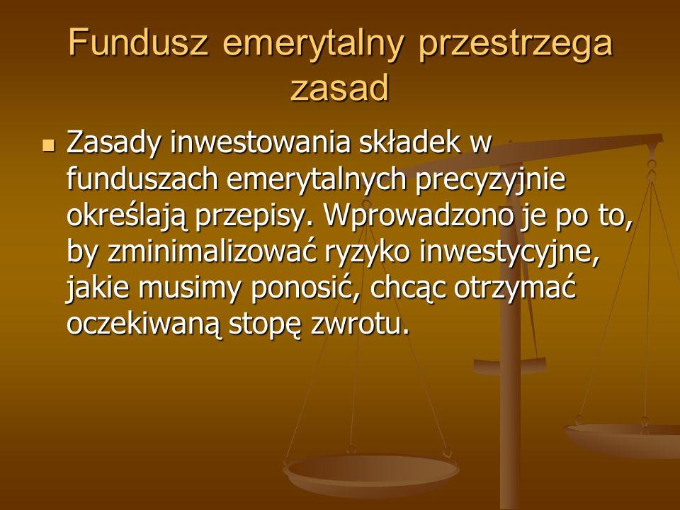 Fundusz emerytalny przestrzega zasad